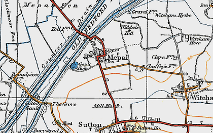 Old map of Widdens Hill in 1920