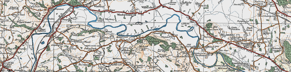 Old map of Westonhill Wood in 1919