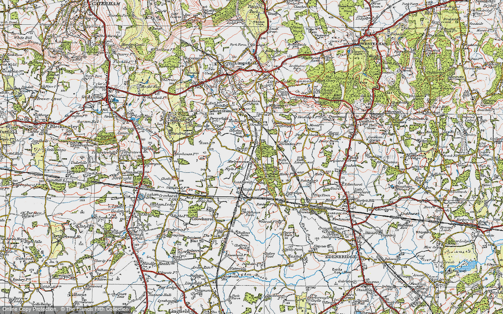 Old Map of Merle Common, 1920 in 1920