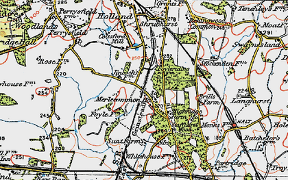 Old map of Merle Common in 1920