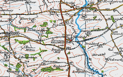 Old map of Langaton in 1919