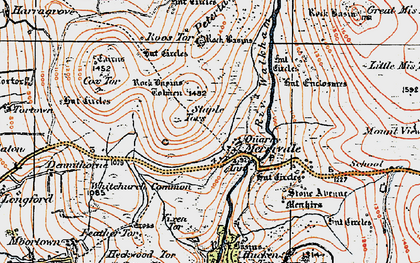 Old map of Whitchurch Common in 1919