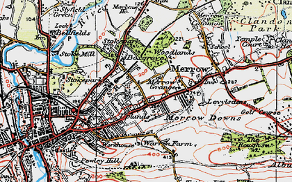 Old map of Merrow in 1920