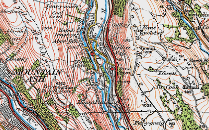 Old map of Merthyr Vale in 1923