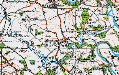 Old map of Merton Mill in 1919