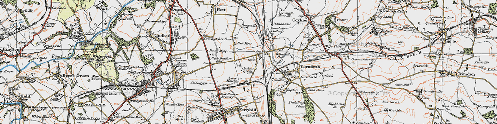 Old map of Metal Bridge in 1925