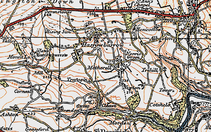 Old map of Metherell in 1919