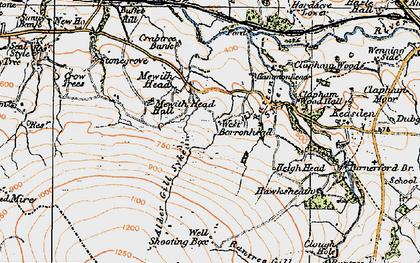 Old map of Alder Gill Syke in 1924