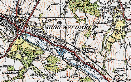 Old map of Micklefield in 1919