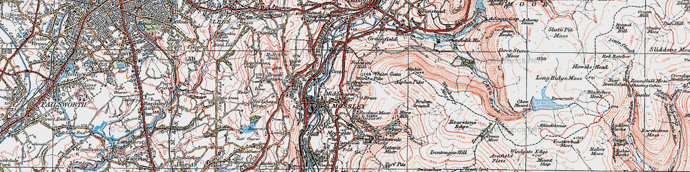 Old map of Abraham's Chair in 1924
