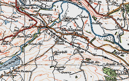 Old map of Bail Green in 1925