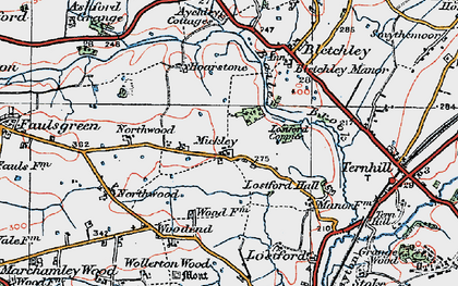Old map of Bailey Brook in 1921