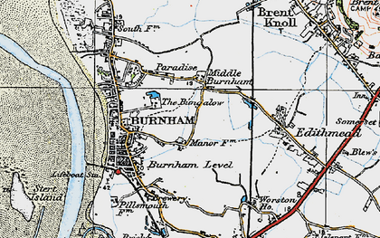 Old map of Applewithy Rhyne in 1919