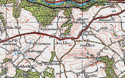 Old map of Middle Taphouse in 1919