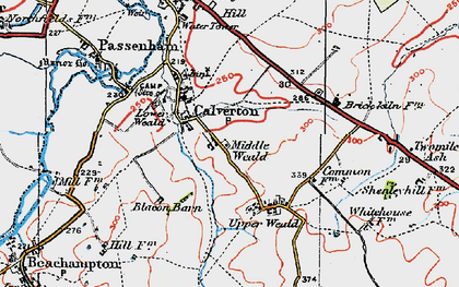 Old map of Middle Weald in 1919