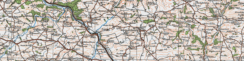 Old map of Wigham in 1919
