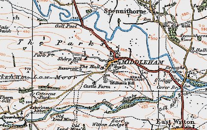 Old map of William's Hill (Motte & Bailey) in 1925