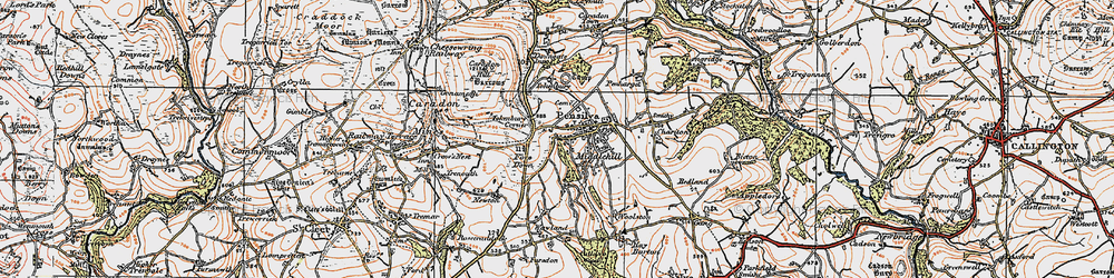 Old map of Tokenbury Manor in 1919