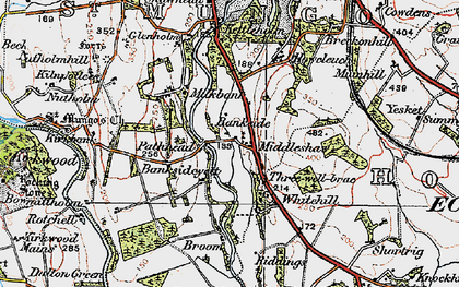 Old map of Bankside in 1925