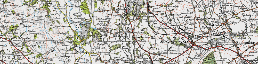 Old map of Yesket in 1925