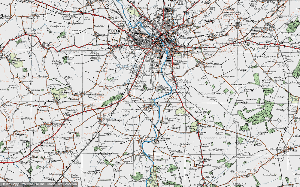 Old Map of Middlethorpe, 1924 in 1924