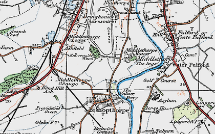 Old map of Middlethorpe in 1924