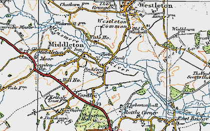 Old map of Westleton Common in 1921