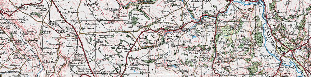 Old map of Arbor Low in 1923