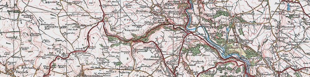 Old map of Middleton in 1923