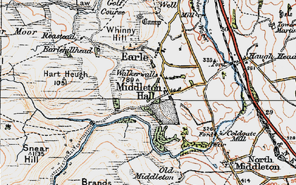 Old map of Wooler Common in 1926