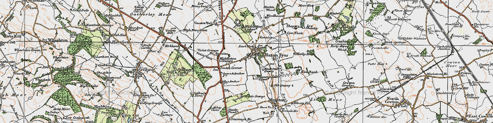 Old map of Middleton Tyas in 1925
