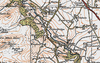 Old map of Middlewood in 1919