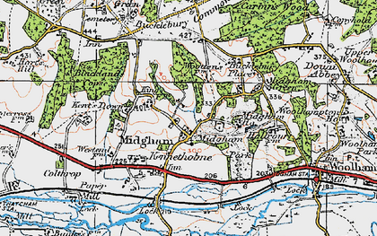 Old map of Woottens in 1919