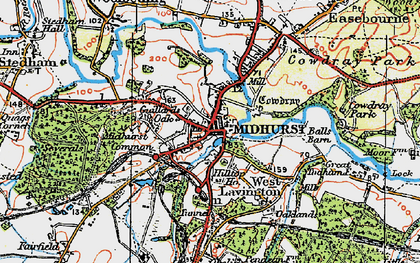 Old map of Midhurst in 1919