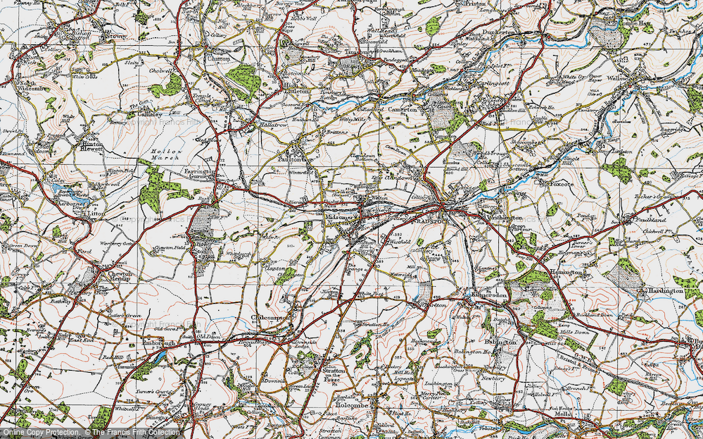 Old Map of Midsomer Norton, 1919 in 1919