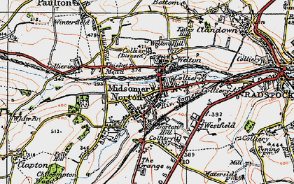 Old map of Midsomer Norton in 1919