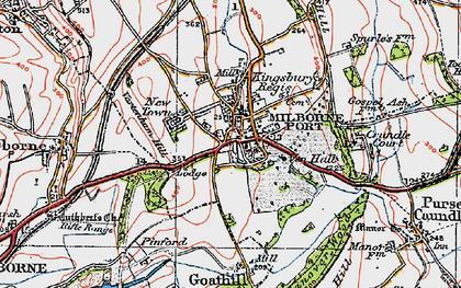 Old map of Milborne Port in 1919