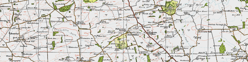 Old map of Westgate in 1925