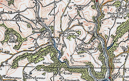 Old map of Milcombe in 1919