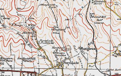 Old map of Mile Oak in 1920
