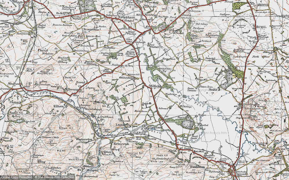 Old Map of Historic Map covering Woodbridge in 1926