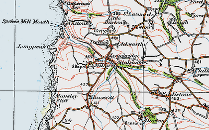 Old map of Ackworthy in 1919