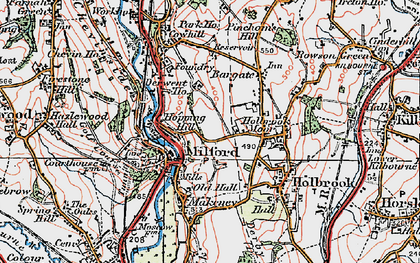 Old map of Milford in 1921