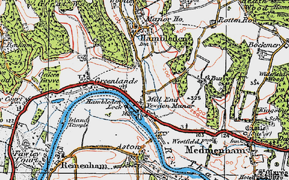 Old map of Mill End in 1919