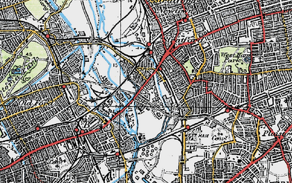 Old map of Mill Meads in 1920