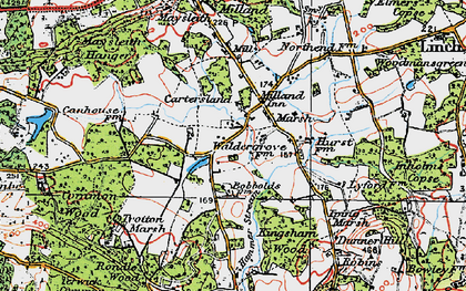 Old map of Milland in 1919