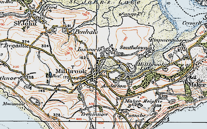 Old map of Millbrook in 1919