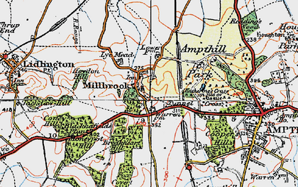 Old map of Ampthill Park Ho in 1919