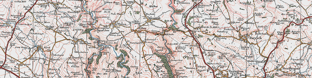 Old map of Milldale in 1923