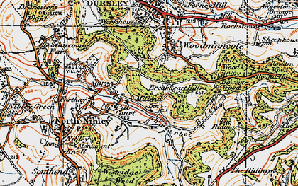 Old map of Whiteway in 1919